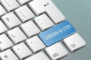 Guardian Ad Litem Button on a Keyboard