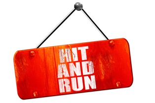 Hanging Hit and Run Sign