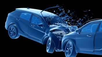 Head-On Car Crash Image