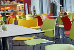 Hospital Cafeteria That Poses Many Slip and Fall Risks