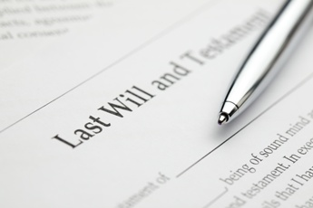 Legal Last Will and Testament Paperwork With a Pen