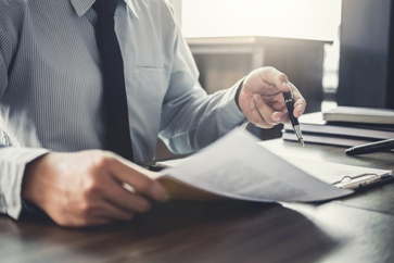 Lawyer With a Release of All Claims Form