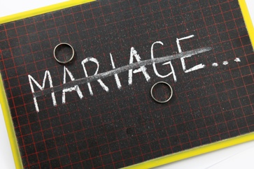 Chalkboard Marriage Sign With Wedding Rings