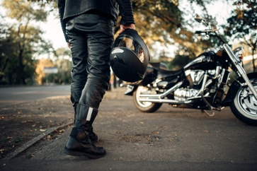 Motorcyclist and His Motorcycle