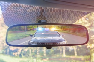 Intoxicated Driving Being Pulled Over on a Rural Virginia Road
