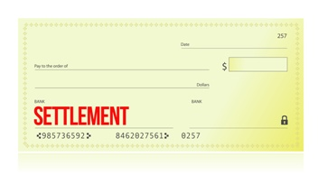 Settlement Check From a Truck Accident Case