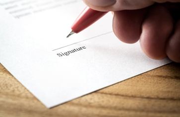 Signature Line on Settlement Papers