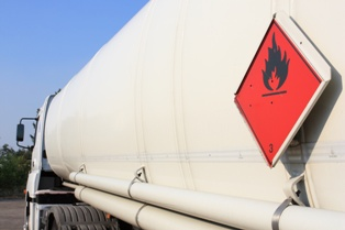 Tanker Truck Carrying Flammable Chemicals
