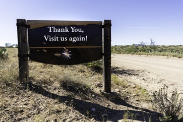 Thank You, Visit Us Again Sign