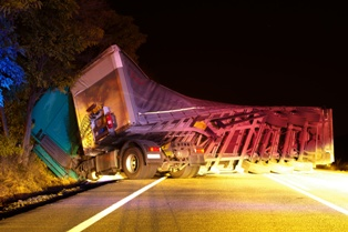 Semi-Truck Rollover Accidents and Common Causes