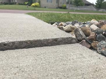 Uneven Cement Sidewalk