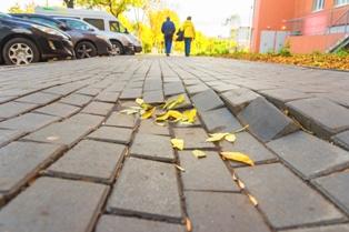 Dangerous Uneven Brick Sidewalk