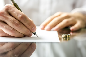 Wedding Ring and Divorce Paperwork