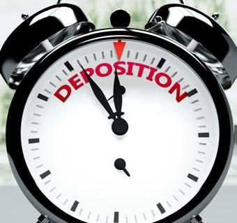 Deposition Text on an Alarm Clock