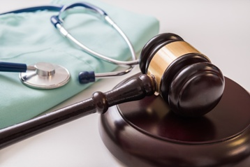 Stethoscope and a Gavel