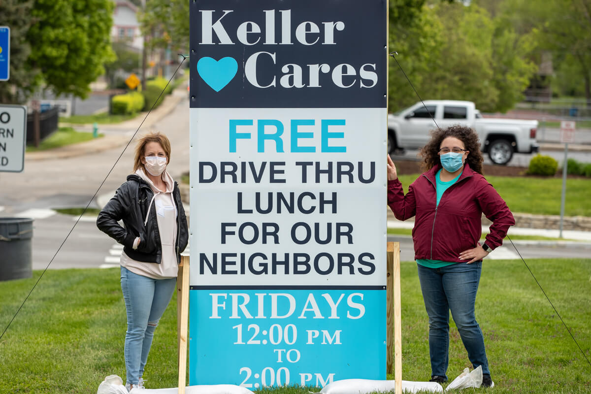 Free drive through lunches provided by Keller Cares.
