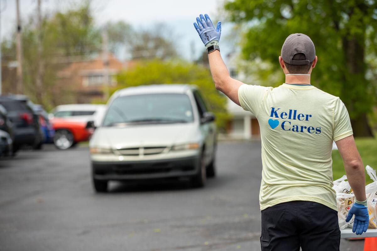 "Keller & Keller's ""Keller Cares"" free lunch initiative."
