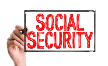Social Security Sign in Red Marker