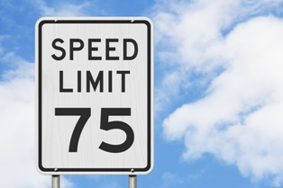 Speed Limit 75 MPH Sign