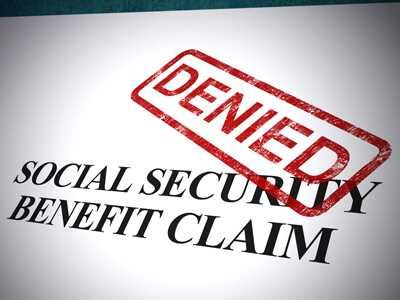 The majority of Social Security benefits claims are denied the first time.