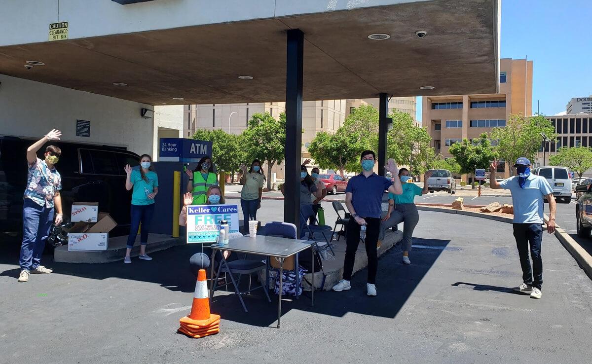 The Keller Cares crew feeding Albuquerque.