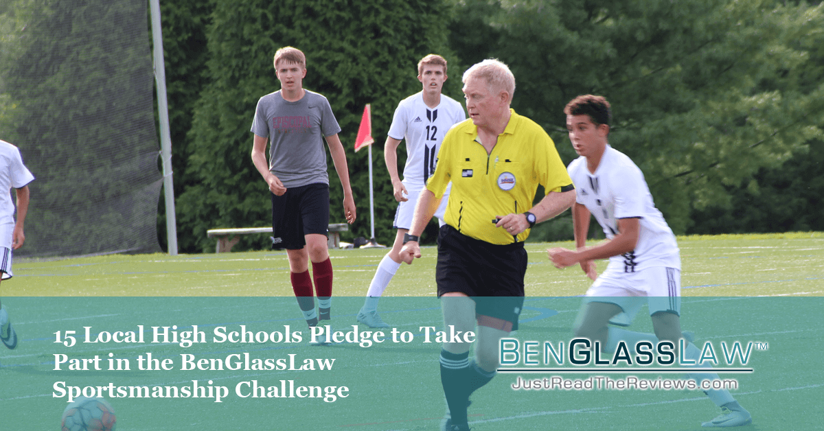 15 Local High Schools Pledge to Take Part in the BenGlassLaw Sportsmanship Challenge