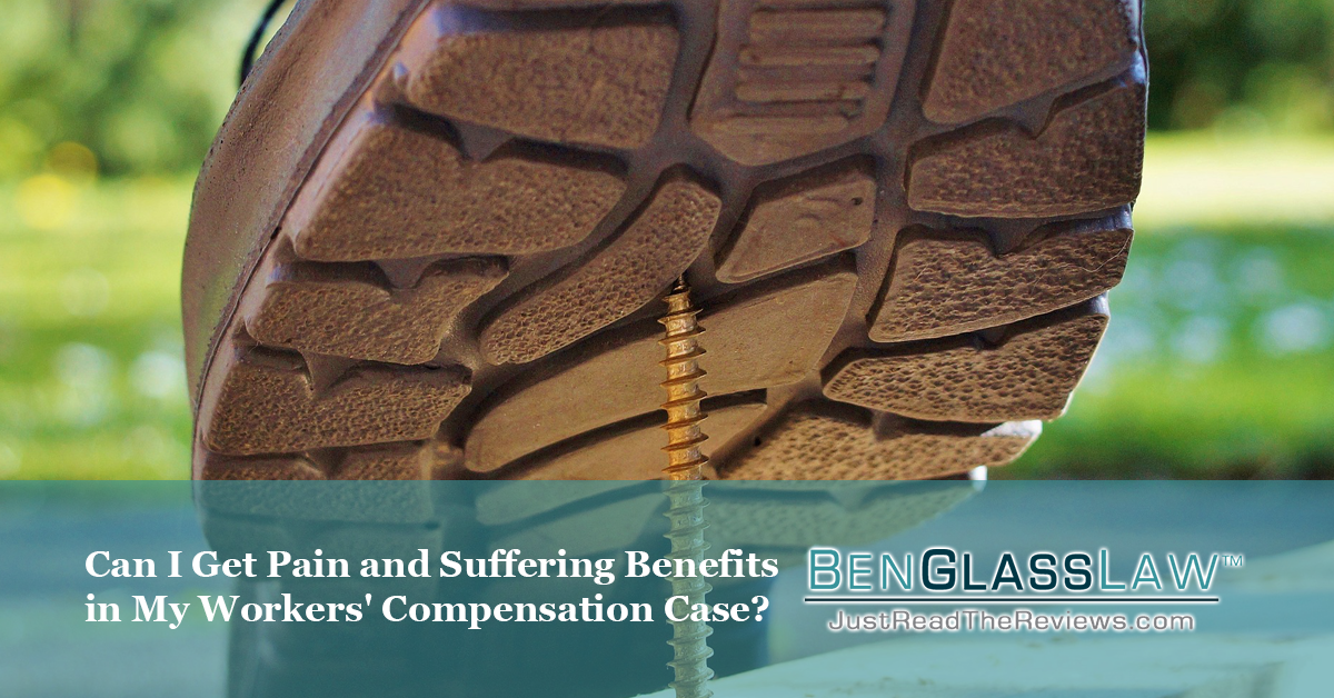Can you get pain and suffering benefits if you are injured on the job?