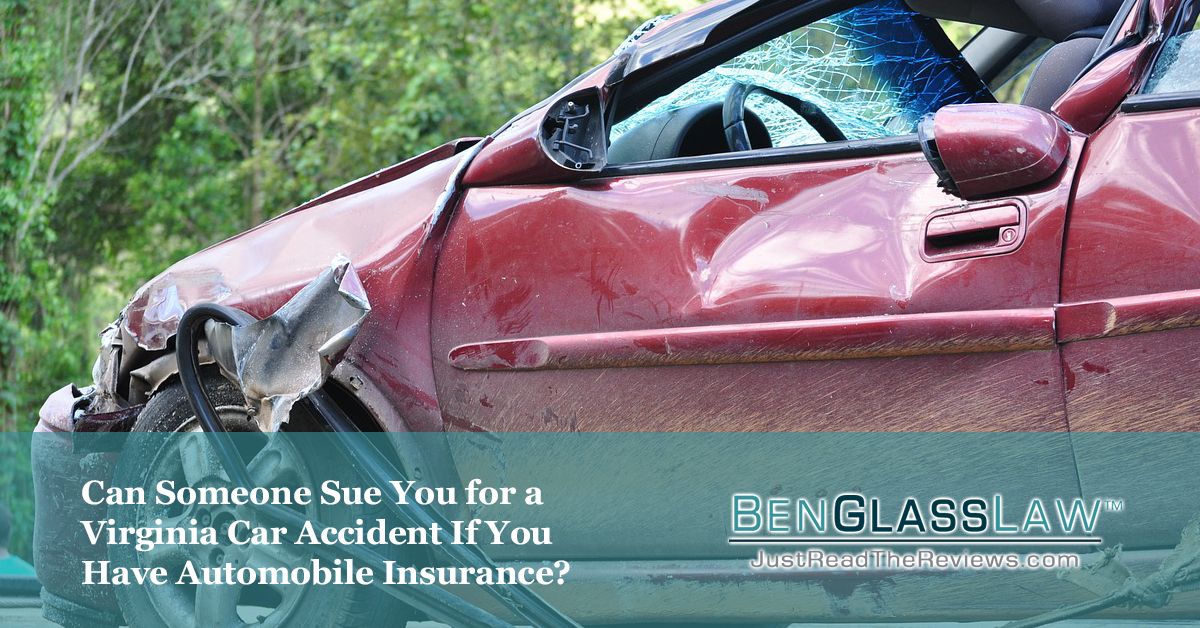 In Virginia, you are technically suing the at-fault driver but their insurance company will protect them.