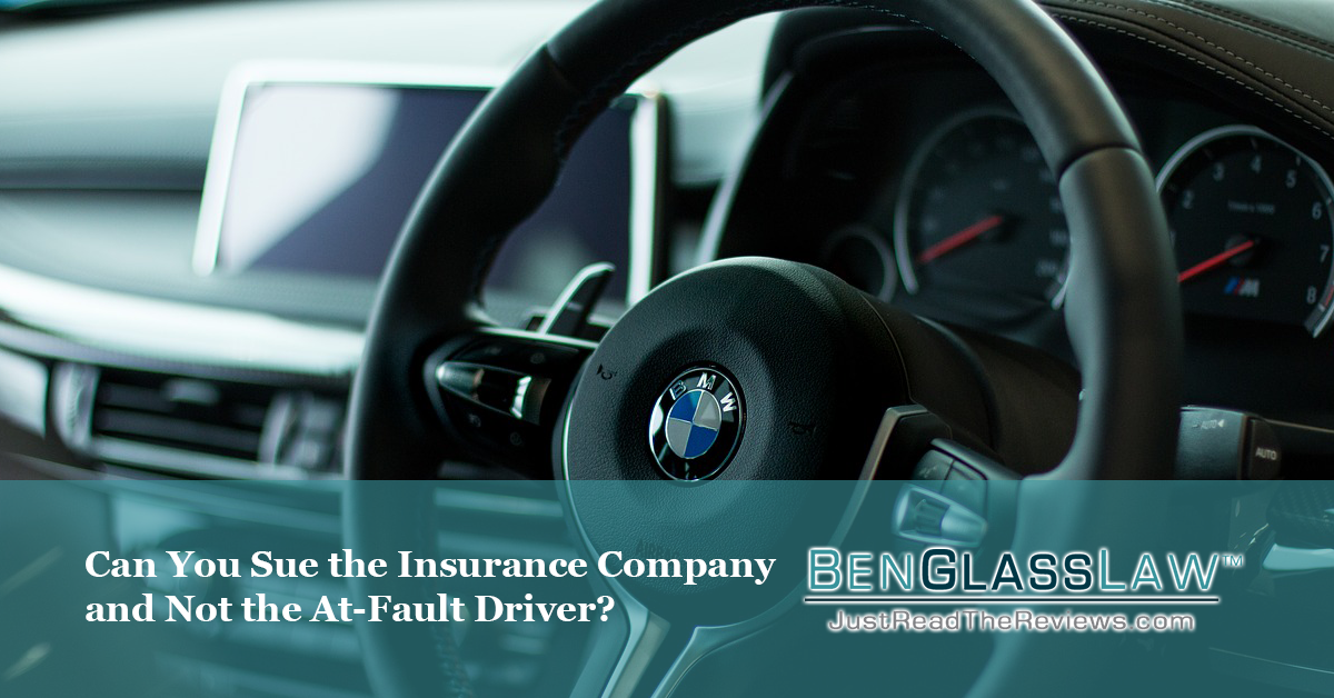 You want to be compensated for your injuries, but you don't want to sue the driver. What can you do?