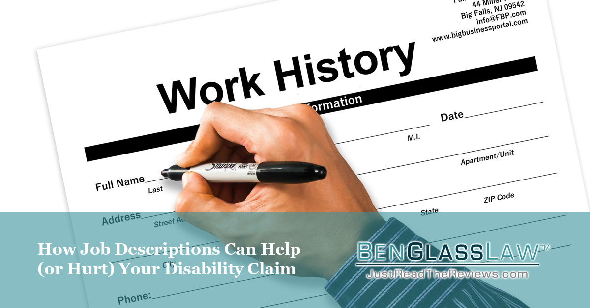 How Job Descriptions Can Help (or Hurt) Your Disability Claim
