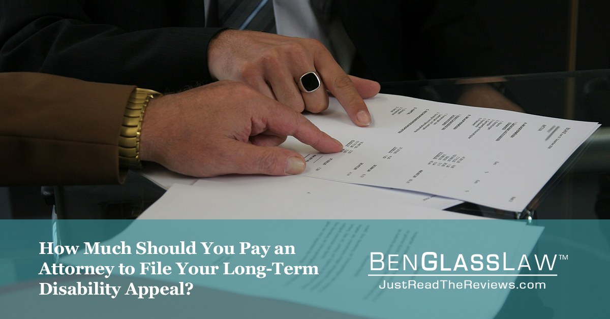How much should you pay an attorney to file your appeal?