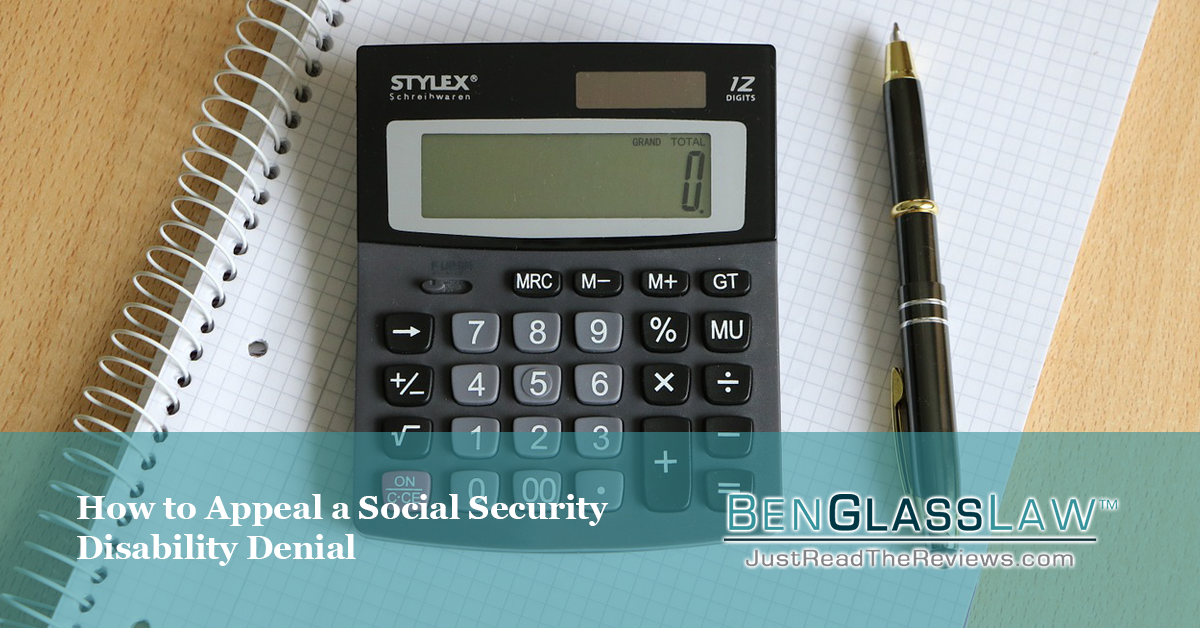 How you can appeal your social security denial.