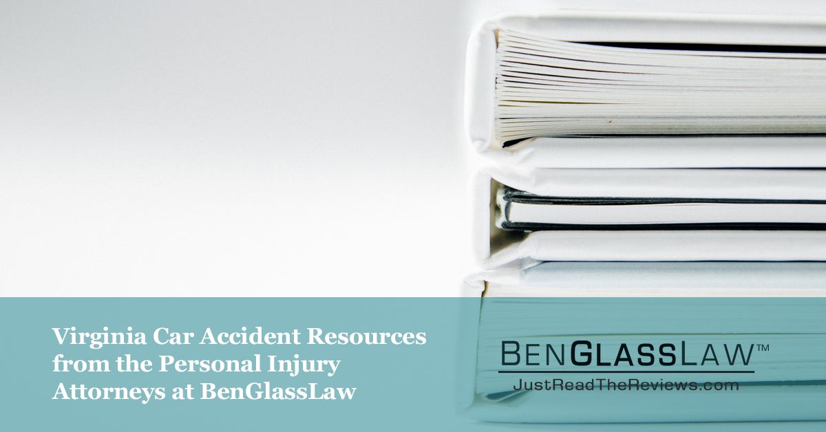 You shouldn't have to worry about gathering police reports, talking to adjusters, or getting a car rental while you are recovering for your injuries. That is why we put together this sheet of resources for Virginia car accident victims.