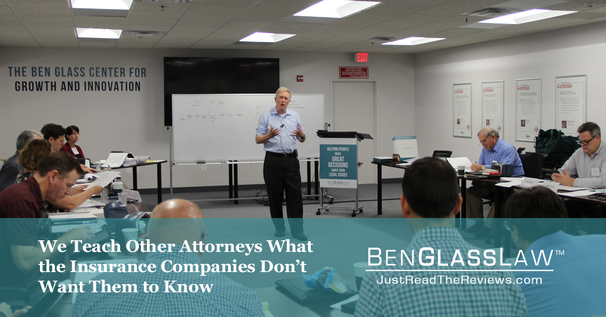 We Teach Other Attorneys What the Insurance Companies Don't Want Them to Know