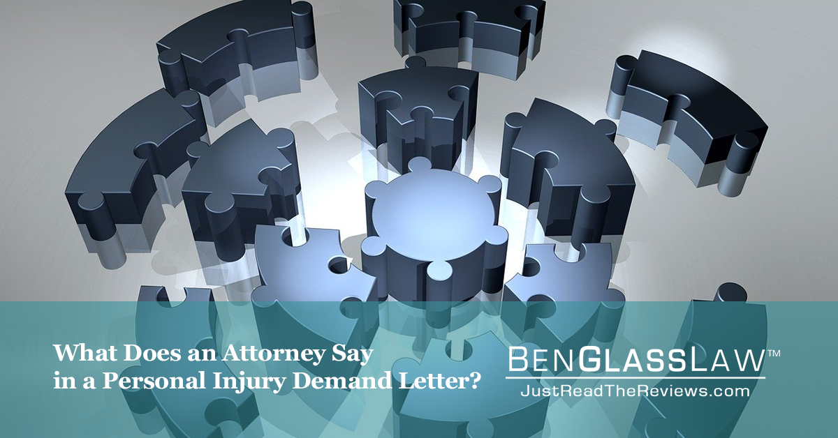 What does an attorney say in a personal injury demand letter?