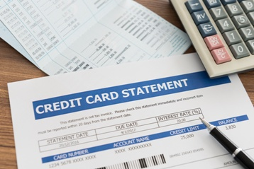 Credit Card Statement and Paperwork