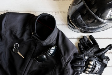 Motorcycle Gear and Helmet