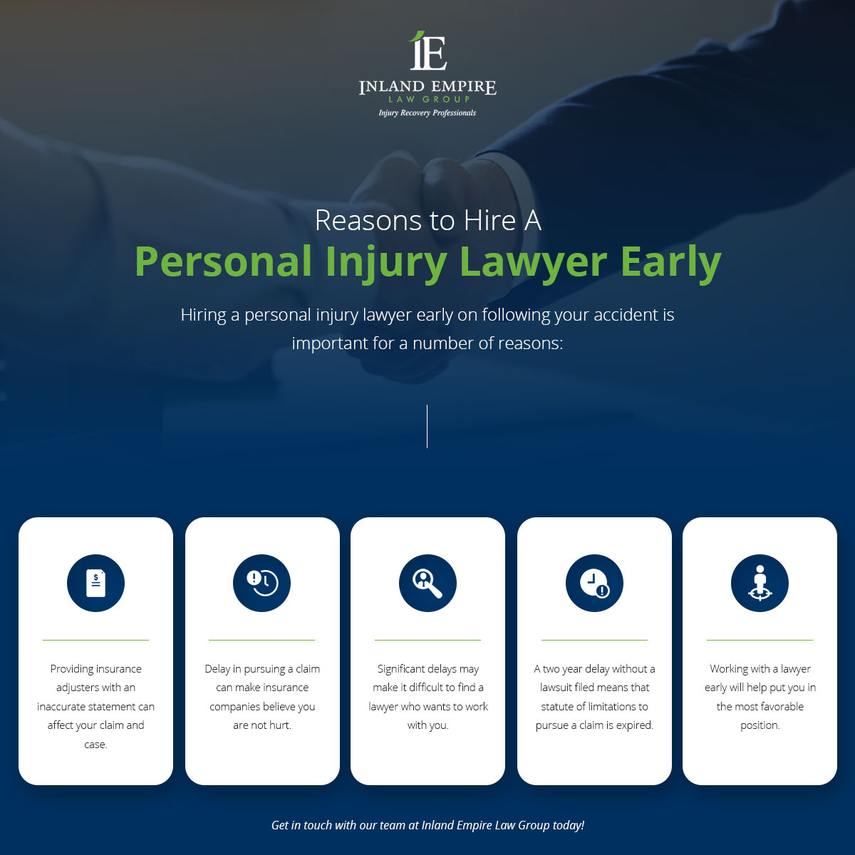 Reasons to hire a personal injury lawyer early