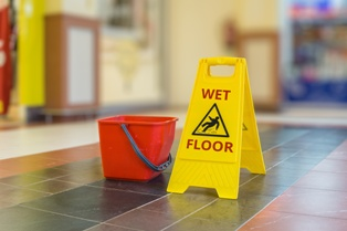 A Wet Floor That Could Lead to a Premises Liability Injury
