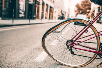 Wrecked Bicycle in the Middle of the Street