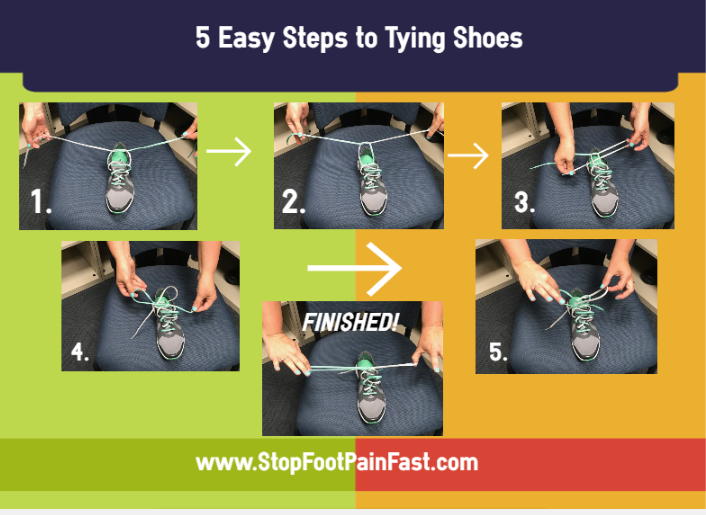 shoe tying steps