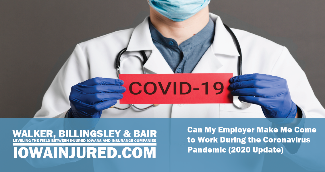 Can My Employer Make Me Come to Work During the Coronavirus Pandemic (2020 Update)