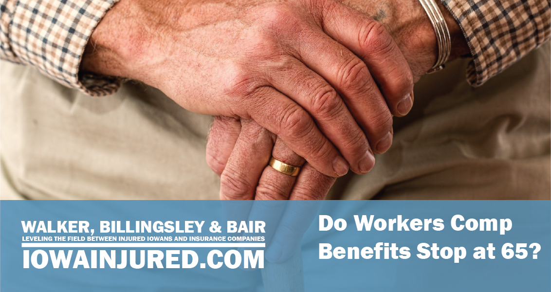 do workers comp benefits stop at 65 old married man holding cane