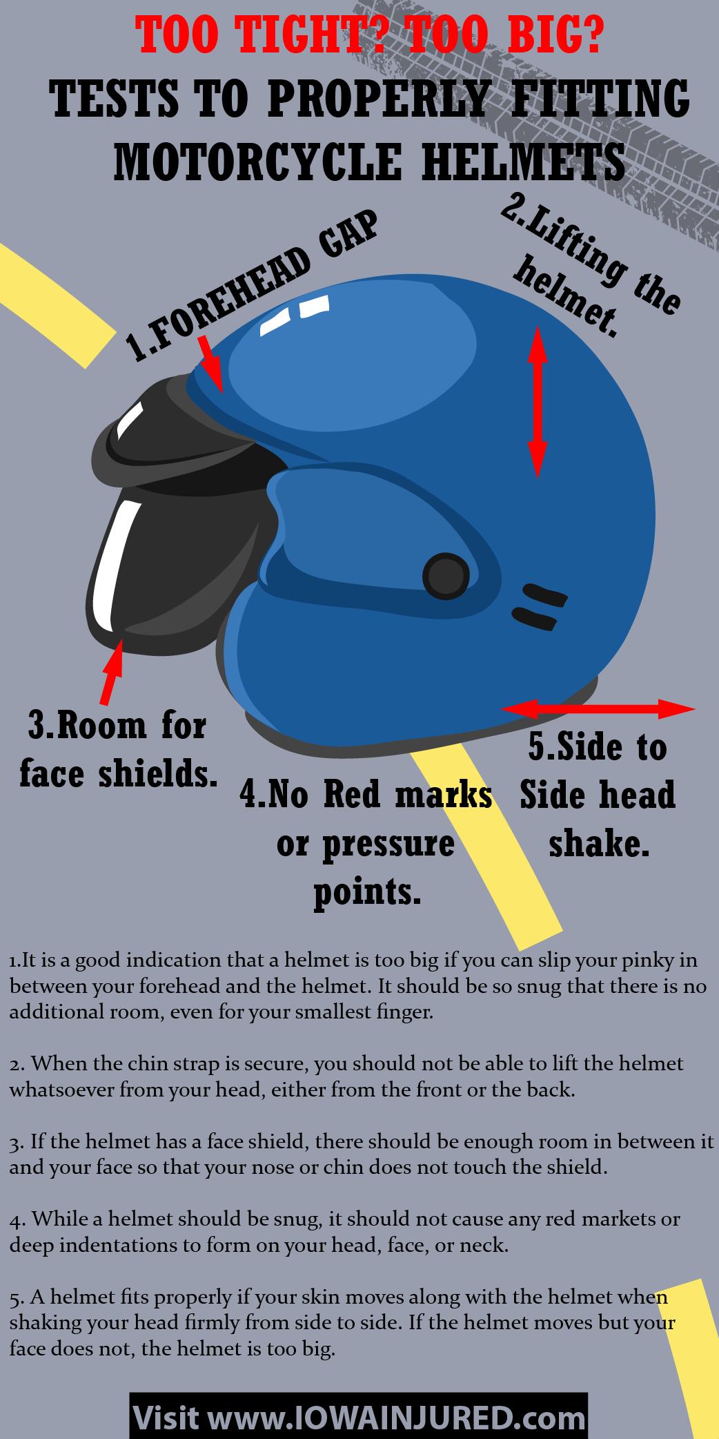 Motorcycle Helmet Fitting Tips