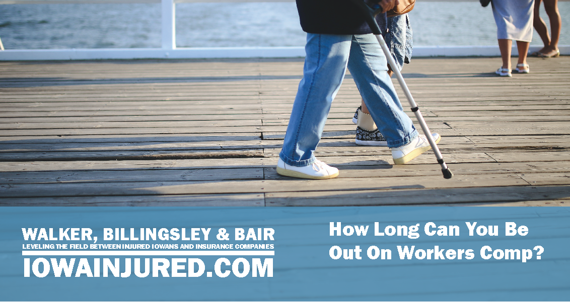 how long can you be out on workers comp walking cane