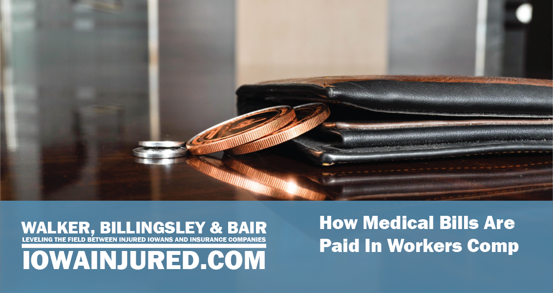 how medical bills are paid in workers comp wallter with coins