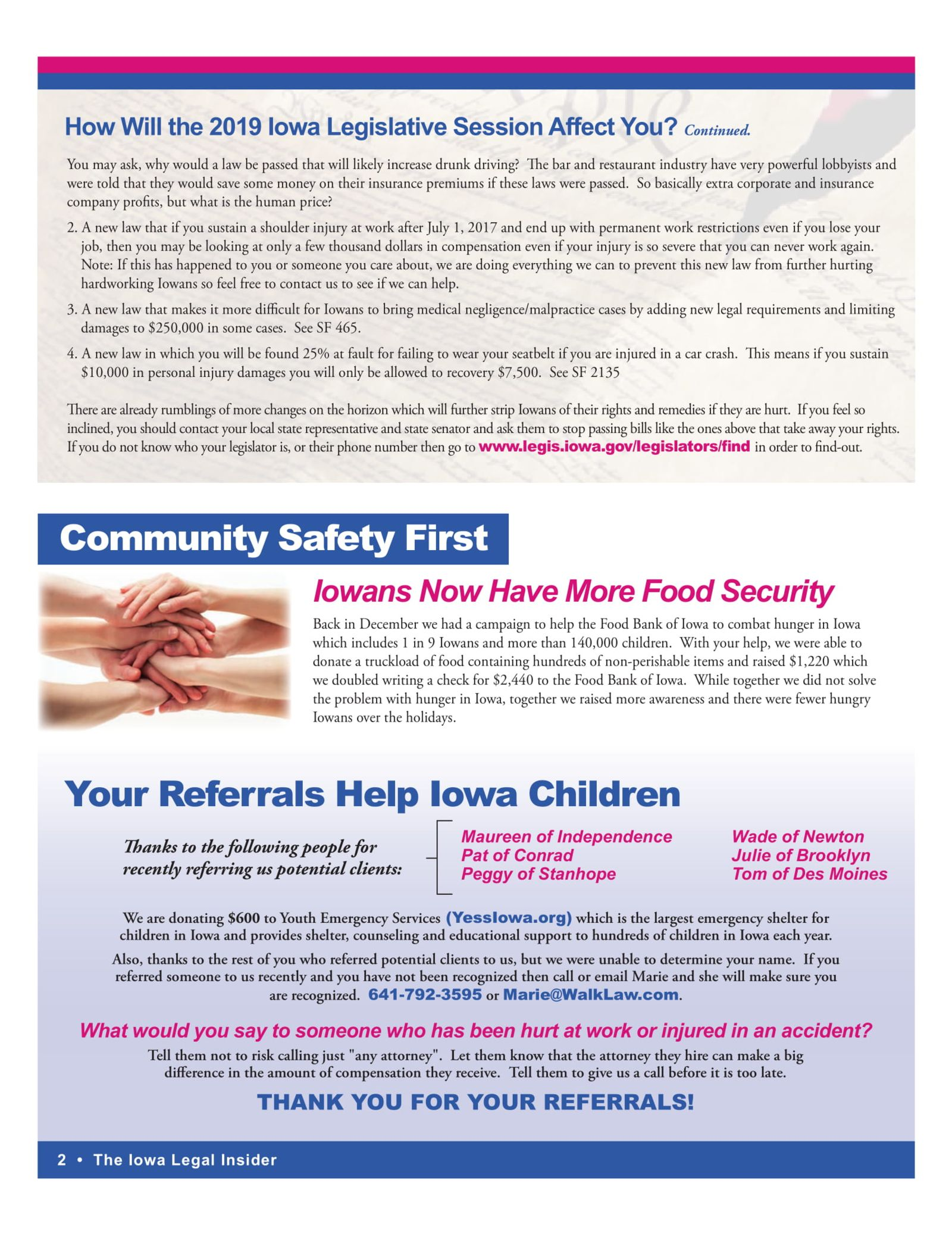 Iowans now have more food security