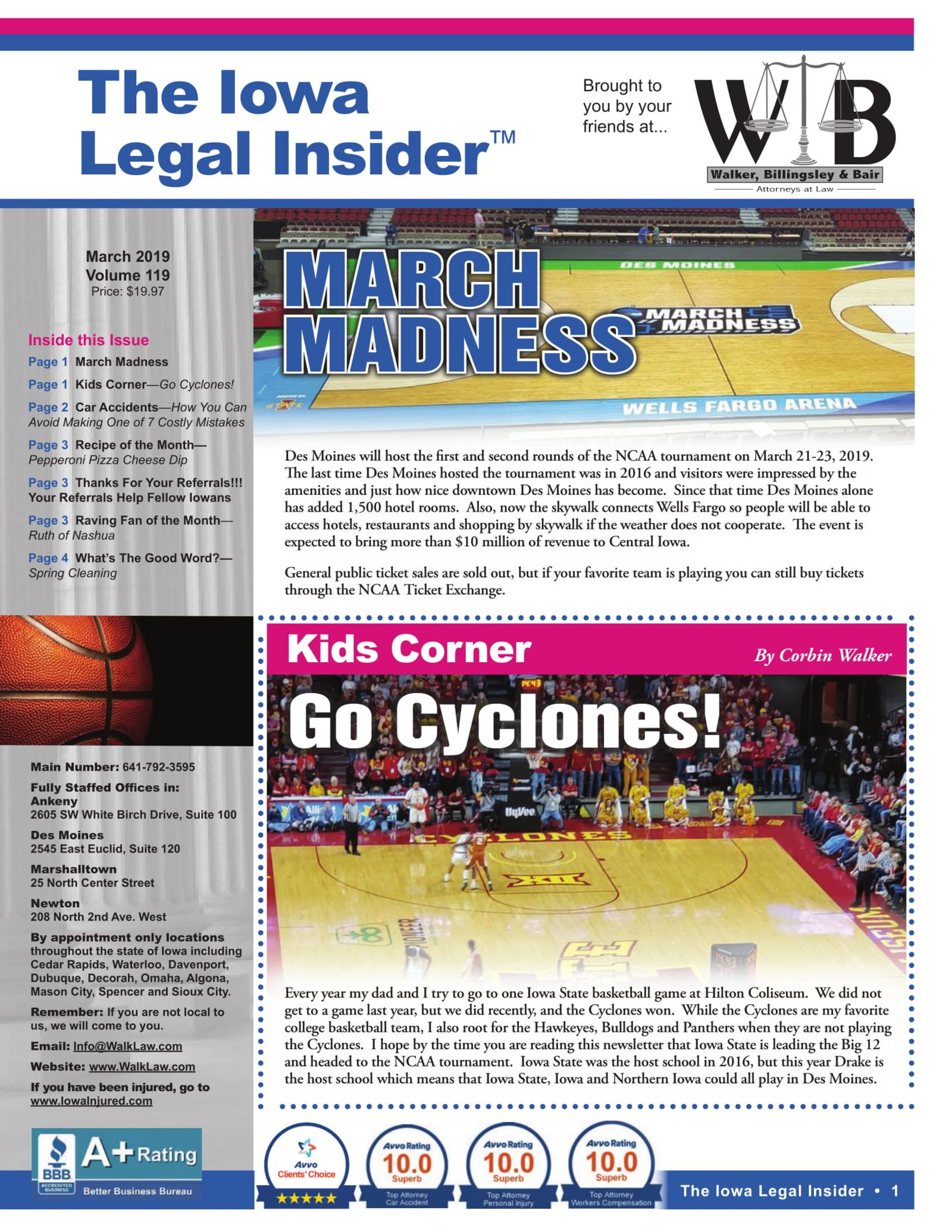 the iowa legal insider March madness in des moines
