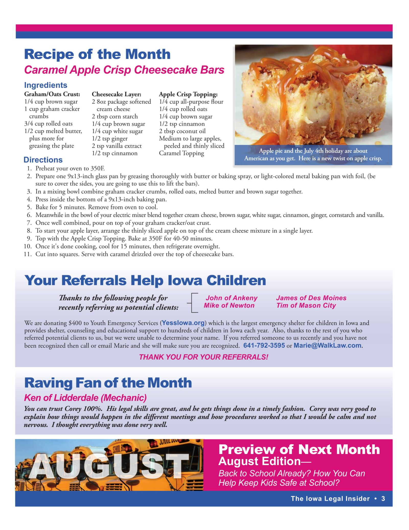 caramel apple crisp cheesecake bars recipe
