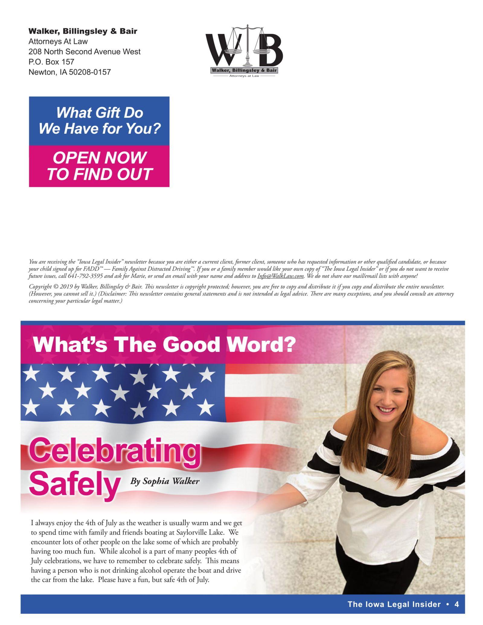 celebrating safety on july 4th
